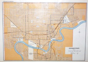 Vintage map of Edmonton